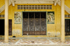 French colonial house building detail in battambang old town cam Stock Photos