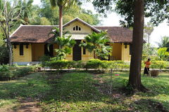 French colonial house at Don Khon island Stock Photo