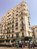French colonial side of the city of Algiers Algeria.Modern city many old french type buildings. Royalty Free Stock Photos
