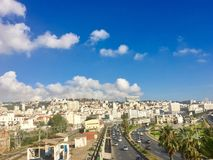 French colonial side of the city of Algiers, Bach Djarrah Algeria.Modern city has many old french. ALGIERS, ALGERIA - SEP 21 , 2017: French colonial side of the stock images