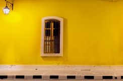 Colorfull Wall, French Colony, Pondicherrry. French Colony is One of the most beautiful street in Indian, With colorful Walls Stock Photo