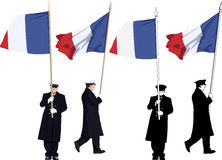 French color guard Royalty Free Stock Images