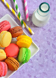 French colorful macarons Royalty Free Stock Photo