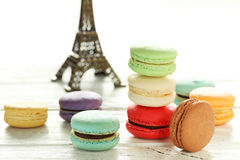 French colorful macarons Stock Images