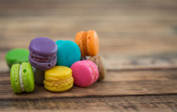 French colorful macarons Stock Photos