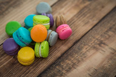 French colorful macarons Royalty Free Stock Photos