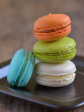 French colorful macarons Stock Photography