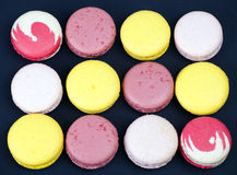 French colorful macaroons Stock Photos