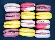 French colorful macaroons Royalty Free Stock Images