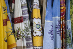 French Colorful table cloths Stock Images