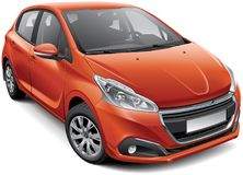 French compact hatchback Royalty Free Stock Photo