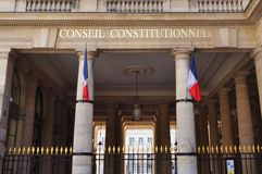 The French Constitutional Council (Conseil Constitutionnel) Stock Photos