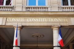 The French Constitutional Council (Conseil Constitutionnel) Stock Photo