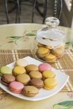 French cookies macarons. vertical Stock Photography