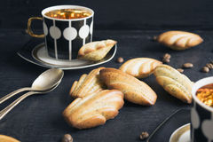 The French cookies Madeleine. With poppy seeds Royalty Free Stock Image