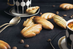 The French cookies Madeleine. With poppy seeds Stock Photos