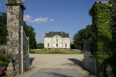 French Country House. Beautiful french mansion or castle Stock Image