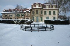 French Country House in Winter Royalty Free Stock Photos