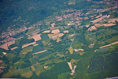 French country side. Seen from a plane Stock Photo