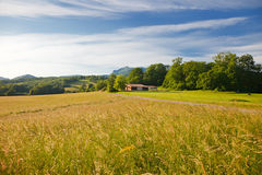 French countryside. Beautiful landscape in Pyrenees Royalty Free Stock Photo