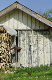 French countryside. Shed of a farm in the french countryside Stock Photo