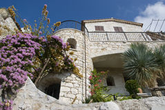 Houses of stone in eze, cote d'azur Royalty Free Stock Images