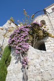 Houses of stone in eze, cote d'azur Royalty Free Stock Photography