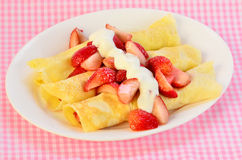 French Crepe Breakfast Stock Images