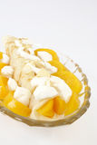 French crepe with peach Stock Image
