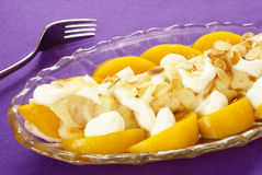 French crepe with peach Stock Photo