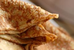 French crepes - brittany. French crepes from brittany in france, close up Stock Images