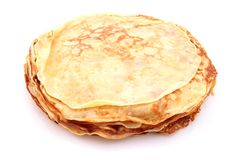 French crepes. A crepe is a type of very thin pancake. It is very popular in France royalty free stock photos