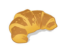 French croissant on white background. On a white back Stock Photos