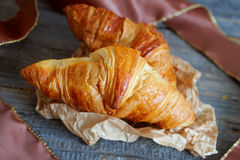 French croissants Crescents Royalty Free Stock Photo
