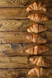 French croissants stock image