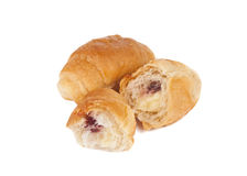 French croissants isolated Royalty Free Stock Photos