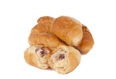 French croissants isolated Stock Image