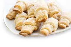 French croissants sugar powdered Royalty Free Stock Photography