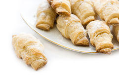 French croissants sugar powdered Stock Photography