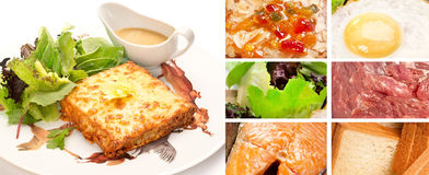 French Croque Monsieur Stock Photo