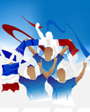 French crowd Royalty Free Stock Photos