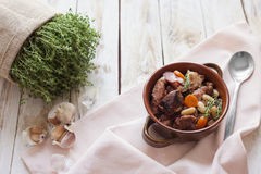 French cuisine - cassoulet. Royalty Free Stock Photo