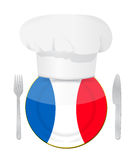 French cuisine concept illustration Stock Image