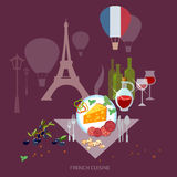 French Cuisine and culture France food french wine and cheese Royalty Free Stock Images