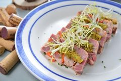 Terrine meat. French cuisine game terrine pheasant Stock Photos