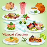 French cuisine icon for restaurant menu design Royalty Free Stock Photography