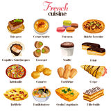 French Cuisine Icons. A vector illustration of French cuisine icon sets Stock Photo