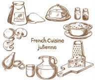 French cuisine, julienne, ingredients Stock Photos