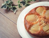 French Cuisine Of Pear Tart Bourdaloue Royalty Free Stock Photo