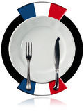 French Cuisine - Plate and Cutlery Stock Image